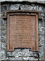 NX9565 : The inscription on the Waterloo Monument on Waterloo Hill by Walter Baxter