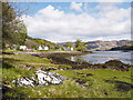 NG8823 : Shore of Loch Duich at Letterfearn by Trevor Littlewood
