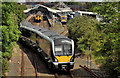 J5081 : Train, Bangor by Albert Bridge