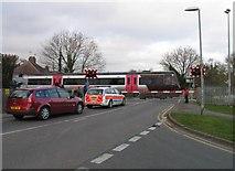 SK8508 : Brooke Road Level Crossing by Andrew Tatlow