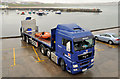 C8540 : RNLI lorry. Portrush harbour by Albert Bridge