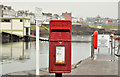 C8540 : Letter box, Portrush harbour by Albert Bridge