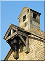 NY9442 : St. John's Church, Rookhope - bell on west end by Mike Quinn