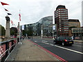 TQ3078 : Flags flying on Lambeth Bridge by PAUL FARMER