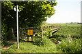 SK8544 : Witham footbridge by Richard Croft