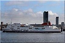 SJ3290 : Belfast Ferry, River Mersey by El Pollock