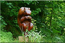 SZ5881 : Red Squirrel in Shanklin Chine, Isle of Wight by Peter Trimming