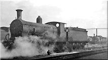 TQ2976 : Wintry scene in Nine Elms Locomotive Yard, with ex-LSWR 4-4-0 by Ben Brooksbank