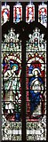 TL9568 : St George, Stowlangtoft - Stained glass window by John Salmon