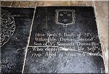 TL9568 : St George, Stowlangtoft - Ledger slab by John Salmon