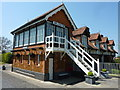 TF6628 : The signal box at the Royal Station, Wolferton by pam fray