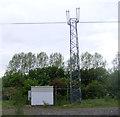 NZ2766 : Trackside communications mast by JThomas