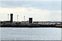 SJ3290 : Alfred Dock gates, Birkenhead by El Pollock