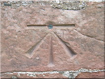 NY6819 : Ordnance Survey Cut Mark with Bolt by Peter Wood