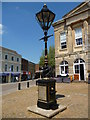 SU3645 : Andover - Jubilee Lamppost and Drinking Fountain by Chris Talbot