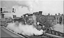 TQ2775 : Study in steam - a freight off the West London Extension Line  struggles onto the Brighton Section at Clapham Junction by Ben Brooksbank