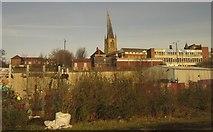 SK3871 : Chesterfield from the railway by Derek Harper