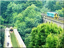 SJ2837 : Chirk Aqueduct by John M Wheatley