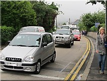 J3731 : Traffic on Shimna Road delayed by the Olympic Relay Run by Eric Jones