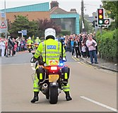 J3731 : PSNI motorcycle escort to the Olympic Flame procession at the Shimna Road/Bryansford Road cross roads by Eric Jones