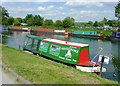 SO7509 : Canals Trust charter boat near Saul, Gloucestershire by Roger  Kidd