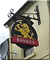 SO8985 : The Red Lion (2) - sign, 147 Brettell Lane, Amblecote, Stourbridge by P L Chadwick