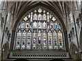 SX9292 : East Window in the Quire, Exeter Cathedral by Rob Farrow