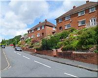 ST3288 : Newport : Milton Road houses near Shelley Road by Jaggery