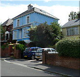 ST3288 : A blue house, Eveswell Park Road, Newport by Jaggery