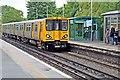 SJ3385 : To Liverpool, Bebington Railway Station by El Pollock