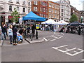 TQ3181 : Trade stands for London Nocturne bike races by David Hawgood