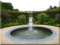 NU1913 : The Alnwick Garden : A Small Pool In The Ornamental Garden by Richard West