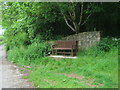 NZ3335 : Seat at the southern edge of Coxhoe Wood by peter robinson