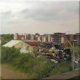 SJ8297 : Crushed cars at Cornbrook by Gerald England