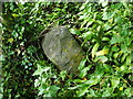 NS4074 : Dumbarton Rock: War Department boundary stone no. 6 by Lairich Rig