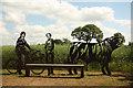 SK9058 : Bassingham & Carlton-le-Moorland portrait bench by Richard Croft