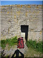 NU2422 : Coastal Northumberland : Seaside Left-Luggage Locker at South End Of Embleton Bay by Richard West