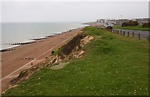 TQ7507 : The cliff and beach at Galley Hill by Steve Daniels