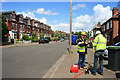 SK5337 : Surveyors on Lower Road by David Lally