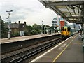 TQ2876 : Train arriving Battersea Park station by Paul Gillett