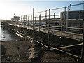 SX9372 : Temporary access, Fish Quay, Teignmouth by Robin Stott