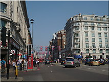 TQ2780 : Oxford Street meets Park Lane W1 by Robin Sones