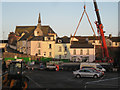 SX9473 : Beams for Fore Street bridge are loaded by Robin Stott