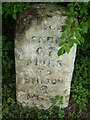 TL1877 : Old Milestone by Keith Evans