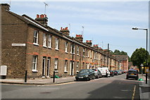TQ3778 : Isle  of  Dogs:  Terrace houses on Harbinger  Road by Dr Neil Clifton