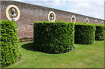 TQ1773 : Wall and busts, Ham House by Philip Halling