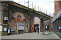 TQ3576 : Peckham:  Queens Road station by Dr Neil Clifton