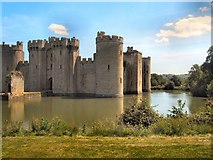 TQ7825 : Bodiam Castle and Moat by Paul Gillett
