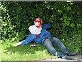 TL5562 : Swaffham Bulbeck: Jubilee scarecrow by John Sutton