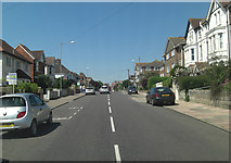 TQ7407 : A259 crossroads with Manor Road by Stuart Logan